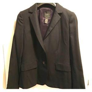 Dark navy blue pinstripe J Crew blazer/suit jacket